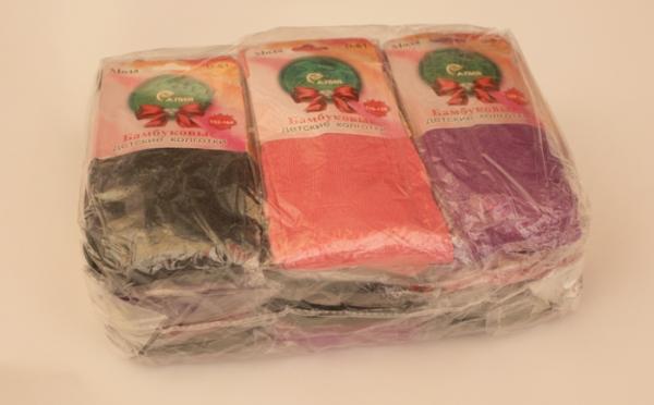 колготы демисезонные для девочки, р.92-164, бамбук. упаковка 12 шт. арт.1093 на Барабашово оптом