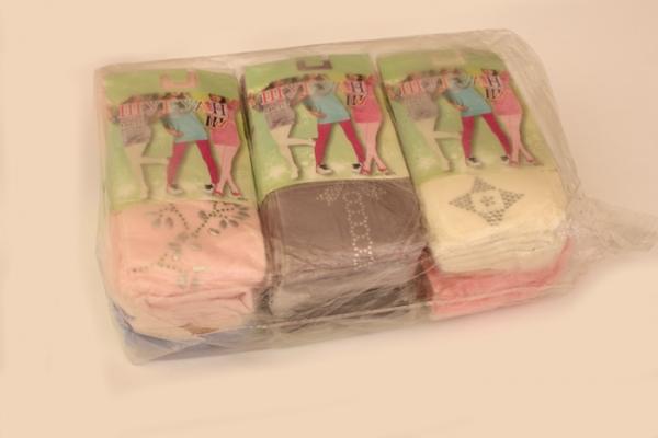 колготы демисезонные «шугуан» для девочки, р.140-152, хлопок. упаковка 6 шт. арт.1117 на Барабашово оптом