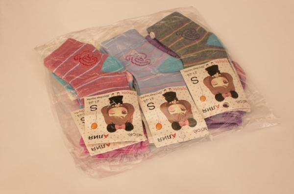 ad75495c18d88 Носки детские демисезонные для девочки, р.S. Упаковка 12 шт. арт.1177 (Код:  AK1177)