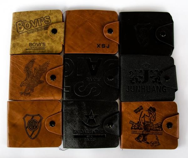 Купить кошелек мужской 11х10см, кожзам, на кнопке. арт.1109 в Украине оптом