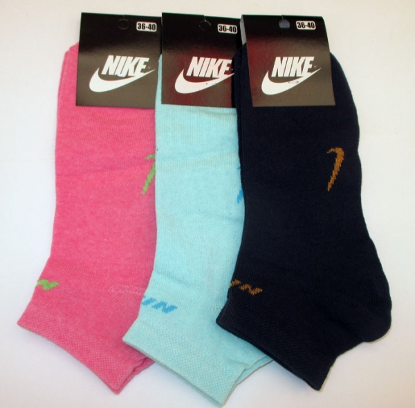 "Носки женские короткие ""Nike"", р.36-40"