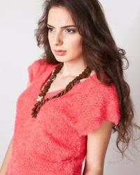 Пуловер с коротким рукавом 5920-1, цвета в ассортименте, размер 46-48.