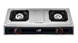 Таганок газовый настольный ST 63-010-12, габариты 725х395х100мм, 2 горелки (дюралюминий). Тепловая мощность: 3,4 кВт