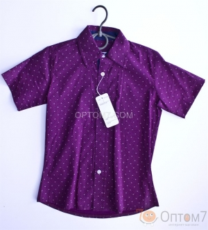 Рубашка с коротким рукавом для мальчика арт.0073