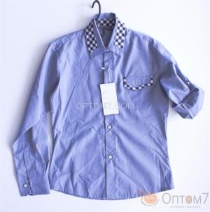 Рубашка-трансформер для мальчика в школу арт.0101