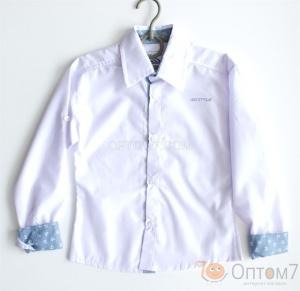 Рубашка-трансформер для мальчика в школу арт.0109