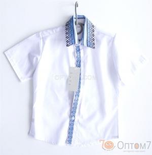 Рубашка-вышиванка с коротким рукавом для мальчика арт.0122