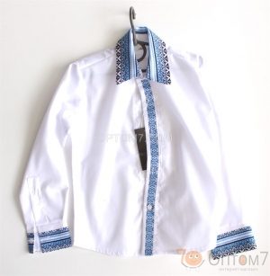 Рубашка-вышиванка с длинным рукавом для мальчика арт.0125