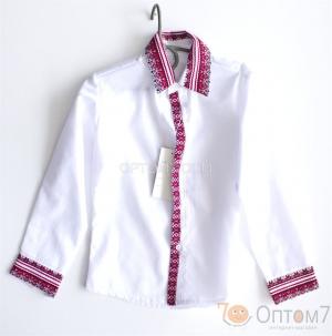 Рубашка-вышиванка с длинным рукавом для мальчика арт.0126