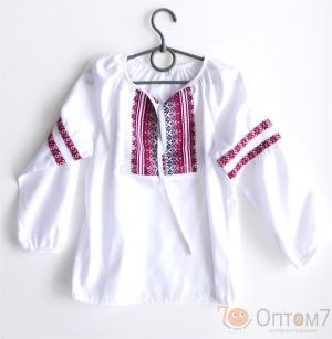 Рубашка-вышиванка с длинным рукавом для девочки арт.0127