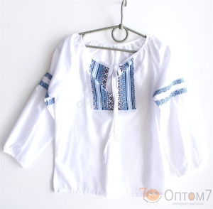 Рубашка-вышиванка с длинным рукавом для девочки арт.0128