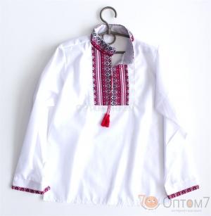 Рубашка-вышиванка с длинным рукавом для мальчика арт.0131