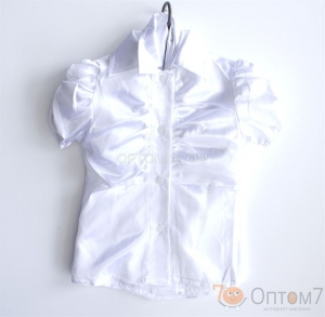 Рубашка белая для девочки арт.0148