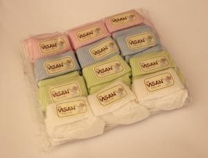 Носки детские для новорожденного р.0-6 месяца, хлопок. Упаковка 12 шт. арт.1179