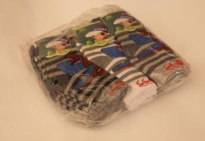 Носки детские теплые для мальчика, р.16-22, махровые. Упаковка 12 шт. арт.1227