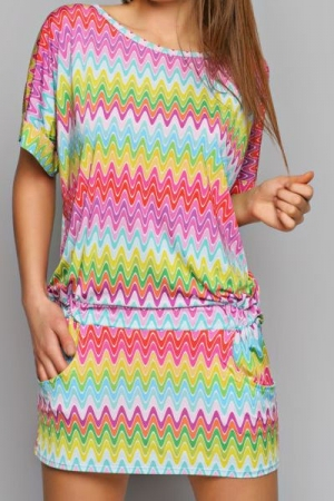 Платье с ярким принтом (78011)
