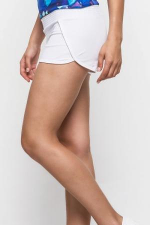 Женские шорты трикотажные, белые ( 78024)