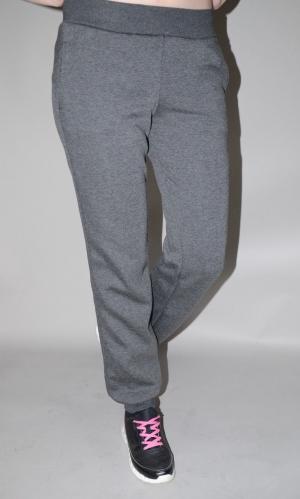 Женские спортивные штаны теплые графит (78029/1)