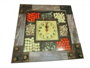 """Часы настенные """"Quartz"""" для кухни мод.1211 (290х290 мм). арт.1041"""