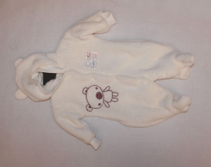 Человечек для новорожденного р.20-24, махра рваная