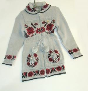 Кофта детская для девочки р.122-140, акрил. Украина. арт.1044