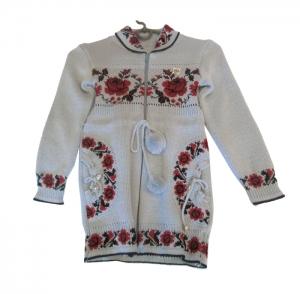 Кофта детская для девочки р.122-140, акрил. Украина. арт.1065
