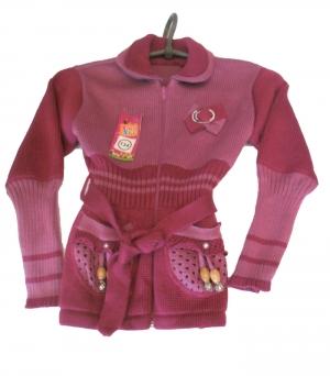 Кофта детская для девочки р.122-140, акрил. Украина. арт.1068