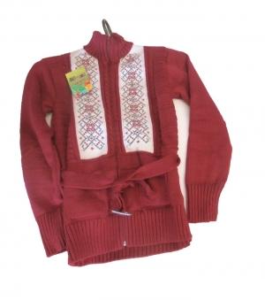 Кофта детская для девочки р.128-146, акрил. Украина. арт.1076