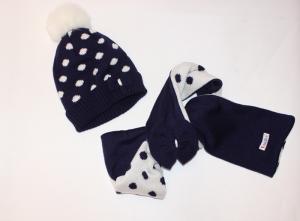 Комплект детский шапка и шарф для девочки на 2-7 лет, акрил. Украина. арт.1202