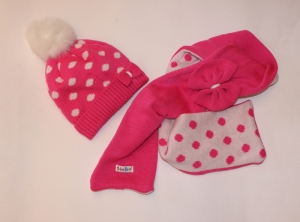 Комплект детский шапка и шарф для девочки на 2-7 лет, акрил. Украина. арт.1203