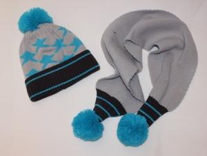 Комплект детский шапка и шарф для мальчика на 2-7 лет, акрил. Украина. арт.1231