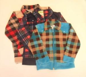 Рубашка для мальчика на молнии р.26-34, флис. Украина. арт.1087