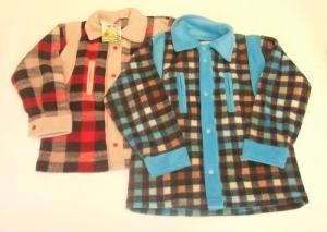 Рубашка для мальчика на кнопках р.26-34, флис. Украина. арт.1088