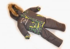 Зимний костюм для мальчика р.1,2,3,4 плащевка. Украина. арт.1012