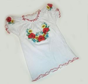 Вышиванка детская для девочки р.34-38, трикотаж. Украина. арт.1049
