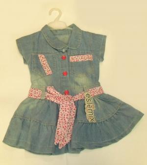 Платье детское на 1,2,3 года, джинс. Турция. арт.1066