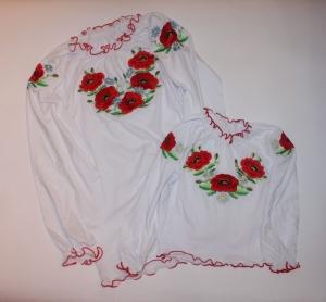 Вышиванка детская для девочки р.36-38, трикотаж