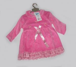 Платье для девочки, велюр, Турция. арт.1150