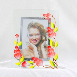 Фоторамка ручная роспись, стекло. арт.1001