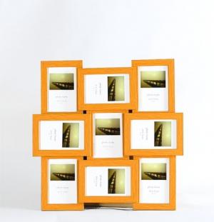 Мультирамка на 9 фото, пластик. арт.1005