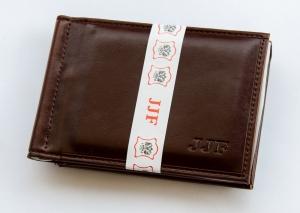 Зажим для денег мужской 8х11см, кожзам. арт.1038