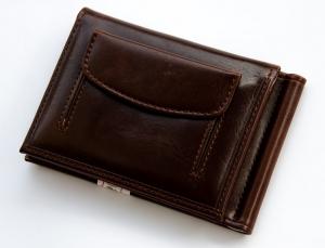 Зажим для денег мужской 8х11см, кожзам. арт.1042