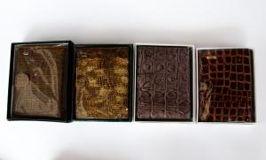 Кошелек-портмоне мужской 14х10см, пресскожа, на кнопке. арт.1074
