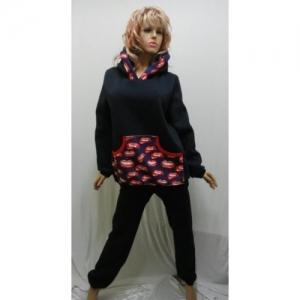 Домашний костюм теплый женский с начесом KN-567 (вискоза)