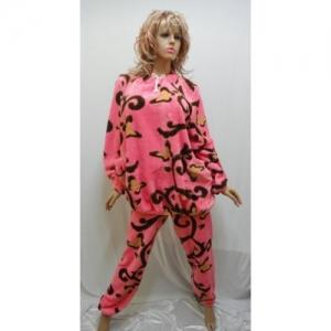 Женская пижама махровая KN-631-2 (махра)
