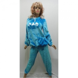Женская пижама плюшевая махра KN-709 (махра)
