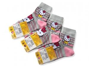"Носки детские Смалий ""Hello Kitty"" цвета в ассортименте, упаковка 10 шт. одного размера (р.16,18,20)"