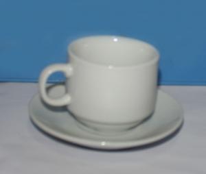 Набор кофейный фарфоровый 2 предмета (чашка 110мл)