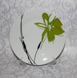 """Тарелка """"Зеленый цветок"""" круглая 200мм"""