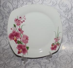 "Тарелка ""Орхидея"" квадратная 235мм"